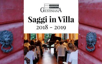 I nostri Saggi in Villa 2018 2019